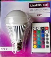 LED Farblampe mit Fernbedienung