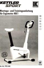 Ergometer KETTLER SPORT MX1 gebraucht -