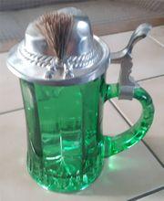 Verkaufe grünen Bierglas Krug