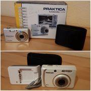 Schöne Digitalkamera in Silber weiß