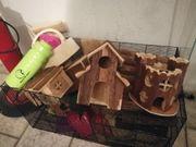 Hamster Käfig mit viel Zubehör