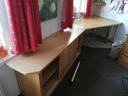 Dicke Tischlerplatte plus Büroschränkchen zu