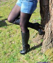 Sexy schwarze Stiefel