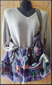Vintage Selfmade Shopping Bag - Handarbeit -