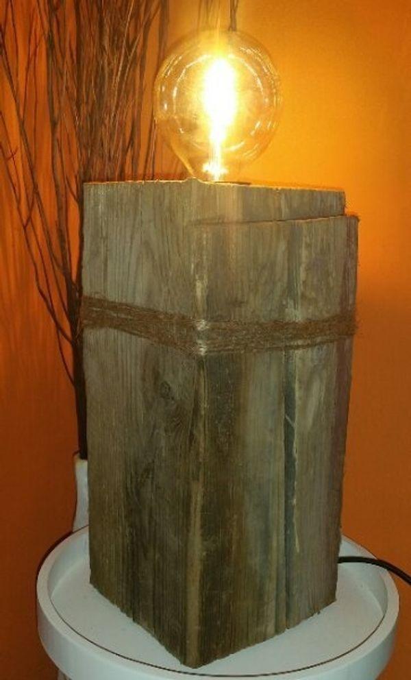 Holzbalken Lampe Holz Lampe Vintage Designer in Limbach-Oberfrohna ...