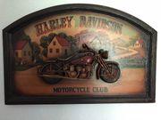 Harley Davidson Holzbild Reliefbild