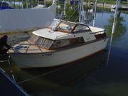 Motorboot Holzboot mit Anhänger zu