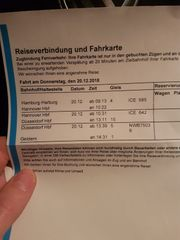 DB Bahn Ticket ab Hamburg
