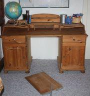 Schreibtisch Massivholz gelaugt