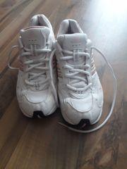 Adidas Damen-Sportschuhe weiß-rosa gut erhalten