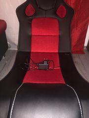 Gamersessel schwarz rot inkl Kabel