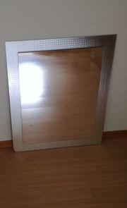 Wandspiegel modern silber
