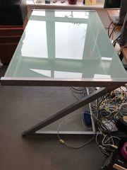 Umsonst Schreibtisch 120x75 mit Glasplatte -