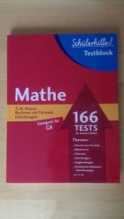 SCHÜLERHILFE TESTBLOCK - Mathe 7 8