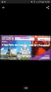 Paris Reise Gutschein zum Verkauf