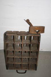 Holz- Bierkasten Werkzeug Bohrer Sägen