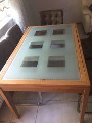 ausglass esstisch