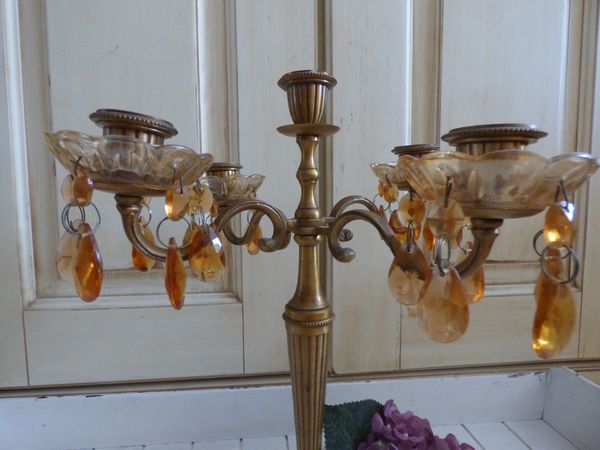 Paar kerzenständer louis xv stil versilberte sechs lampen im