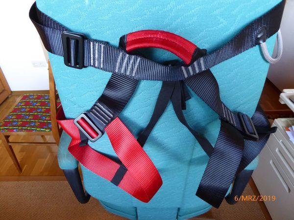 Klettergurt Rucksack : Edelrid klettergurt mit integriertem klettersteigset jester