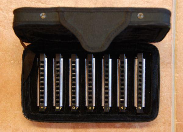 Große Hohner Mundharmonika Sammlung aus