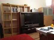 Wohnwand Wohnzimmer Schrank Regal TV