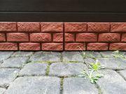 Fassaden-Platten in Bruchsteinoptik GFK Terracotta-Farbe