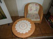 Tisch und Stuhl Rattan