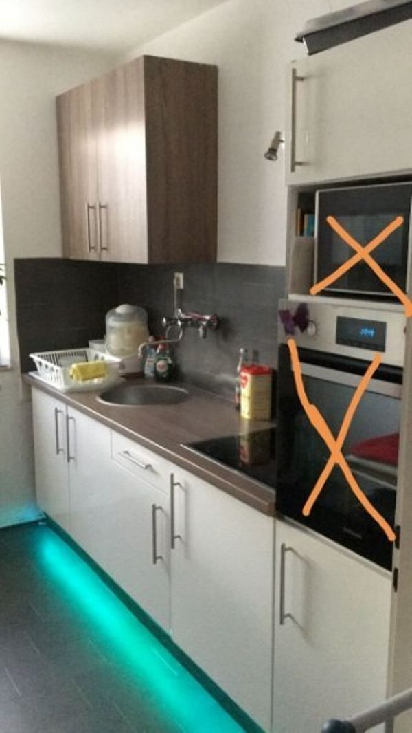 küchenzeile weiß Hochglanz in Augsburg - Küchenzeilen, Anbauküchen ...