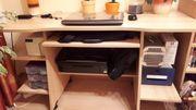 Computertisch Schreibtisch in buchefarben