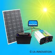 100W Solar - Komplettpaket 100Ah Akku