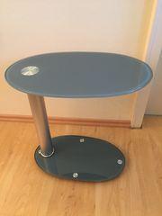 Beistelltischchen Glas Oval schwenkbar 50