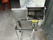 Brötchen Schneidemaschine Edelstahl mit Untertisch