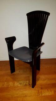 6 x Designer Stühle - Schwarzer