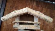 Holz-Vogelfütterungshaus offen mit Dach Größe
