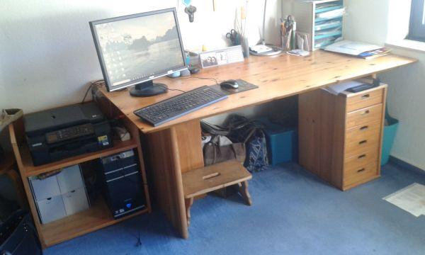 Büromöbel zu verschenken, Ikea holzfuniert, Gebrauchsspuren, ganz ...