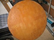 Massivholz Platte rund