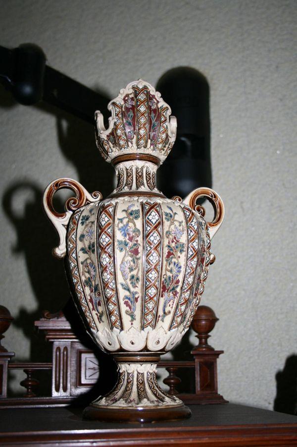 Majolika-Vase,Historismus, » Glas, Porzellan antiquarisch