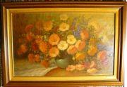 Blumenstilleben, Öliographie 97x67 (