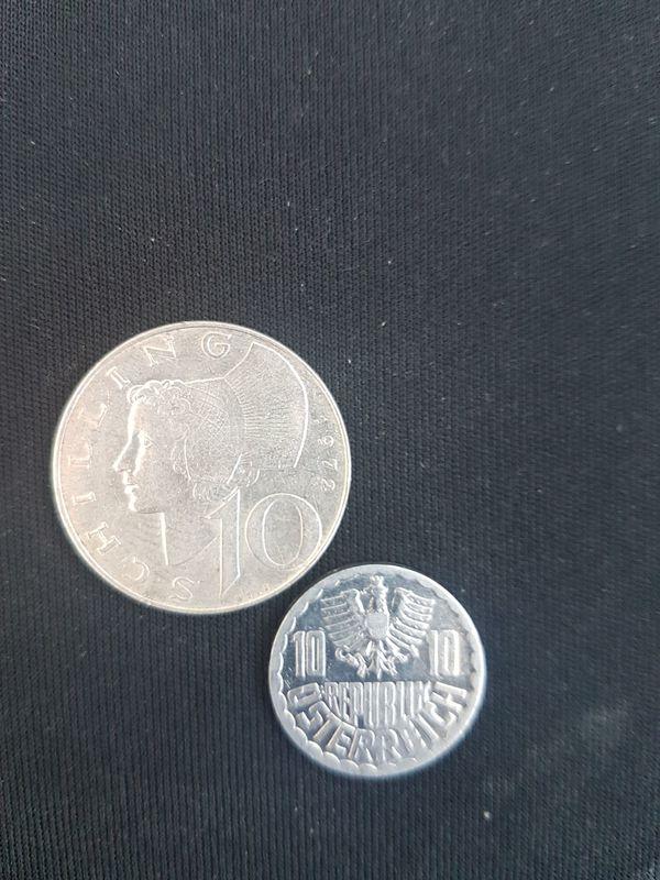9 Münzen österreich 1x 10 1 X 5 Schilling 1 X 10 1x50 Groschen