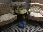 CHIPPENDALE Couch 2 Sessel kl