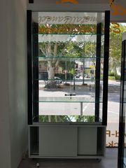 Hochglanz Design Glasvitrine in schwarz