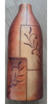 Braune Keramik-Vase