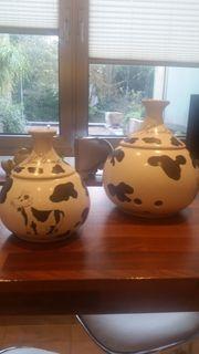 2 Keramik Gefäße für die