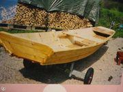 Holz Angelboot Fischzucht