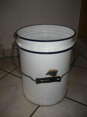 weißer Emaille Eimer Toiletteneimer Wassereimer