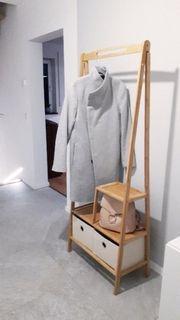 Garderobe Bambus Kleiderständer Kleiderbügel Regal