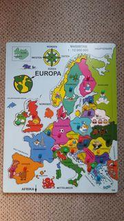 Holz-Europapuzzle