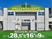 Zweigeschoßige Stahlhalle 28x16x9m abzutragen