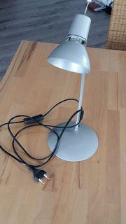 Schreibtischlampe silber