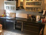 Küche Hochglanz grau